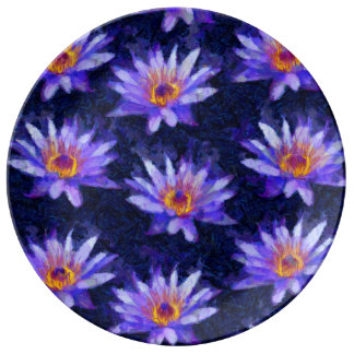Water Lily Modern Plate