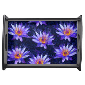 Water Lily Modern Serving Tray