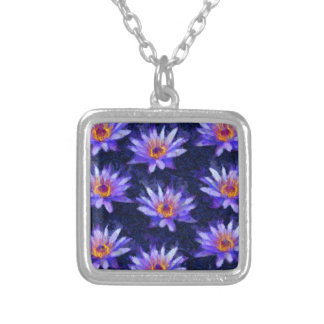 Water Lily Modern Silver Plated Necklace