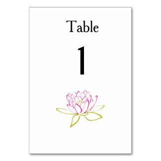 Water Lily Modern Simple Elegant WeddingIdeas Card