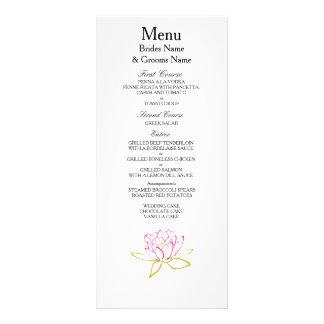 Water Lily Modern Simple Elegant WeddingIdeas Rack Card