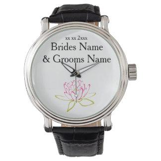 Water Lily Modern Simple Elegant WeddingIdeas Watches