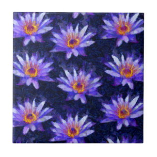 Water Lily Modern Tile