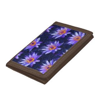 Water Lily Modern Tri-fold Wallet