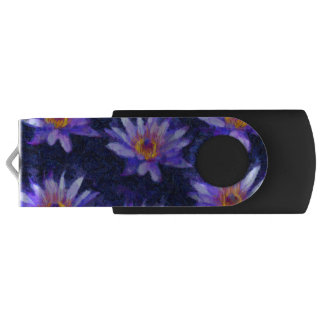 Water Lily Modern USB Flash Drive