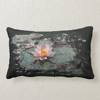 Water Lily - of Lotus flower, sea-rose in the pond Lumbar Pillow