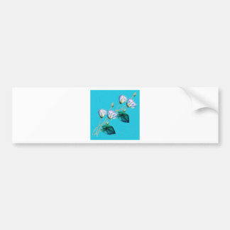 Water Lily On Blue Bumper Sticker