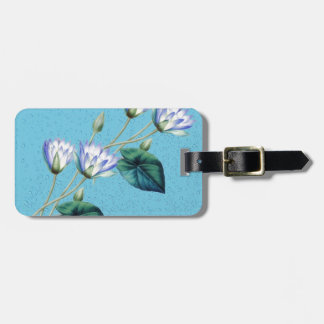 Water Lily On Blue Luggage Tag