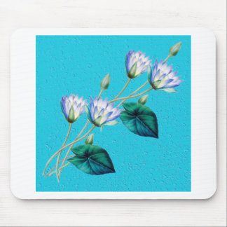 Water Lily On Blue Mouse Pad