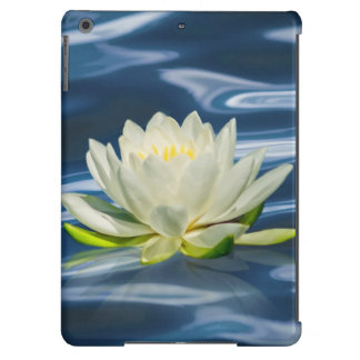 Water Lily on Blue Water iPad Air Covers