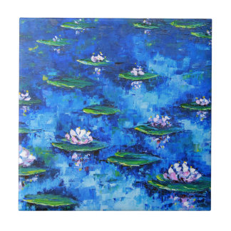 Water Lily Painting, Flower Art, Flowers Ceramic Tile