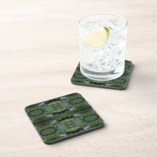 Water Lily Pattern Beverage Coaster
