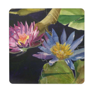 Water Lily Puzzle Coaster