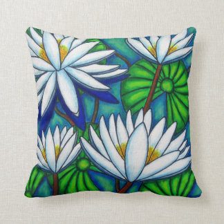 "Water Lily Polyester Throw Pillow 16"" x 16"""
