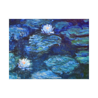 Water Lily Pond in Blue by Claude Monet Fine Art Canvas Print