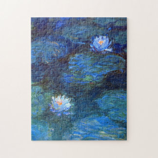 Water Lily Pond in Blue Claude Monet Fine Art Jigsaw Puzzle