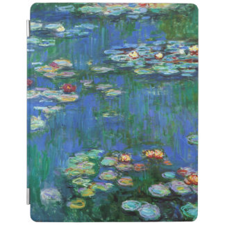 Water Lily Pond in Blue Monet Fine Art iPad Cover