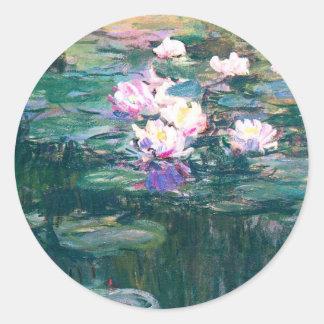 Water Lily Pond Monet Fine Art Special Occasion Round Sticker