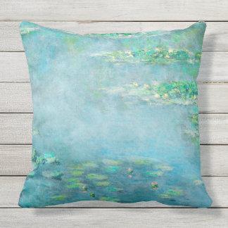 Water Lily Pond Monet Fine Art Throw Pillow