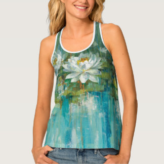 Water Lily Pond Tank Top