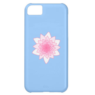 Water Lily. Pretty Pink and Pale Blue. Cover For iPhone 5C
