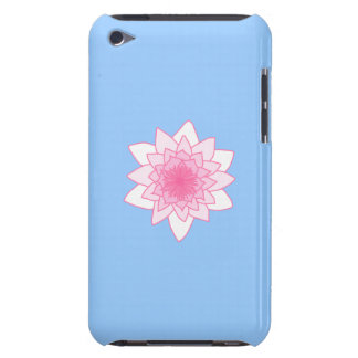 Water Lily. Pretty Pink and Pale Blue. iPod Touch Cases