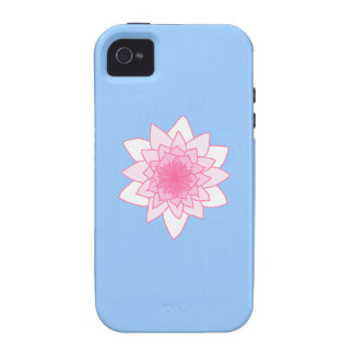 Water Lily. Pretty Pink and Pale Blue. Vibe iPhone 4 Covers