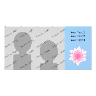 Water Lily. Pretty Pink and Pale Blue. Photo Cards