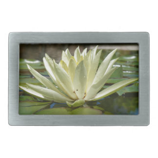 Water lily rectangular belt buckle