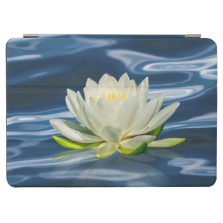 Water Lily Reflected on Blue Water iPad Air Cover
