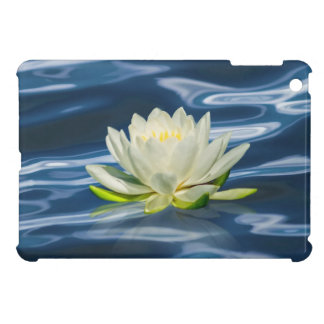 Water Lily Reflected on Blue Water iPad Mini Cases