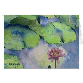 Water Lily Reflections Card