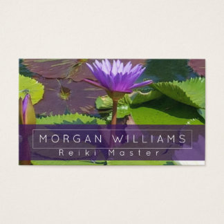 Water Lily Reiki Massage Business Card