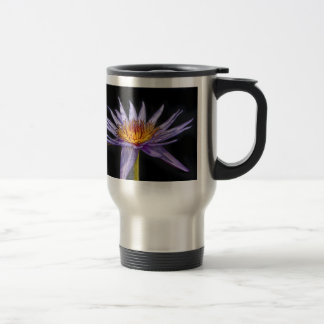 Water Lily Tropical Purple Travel Mug