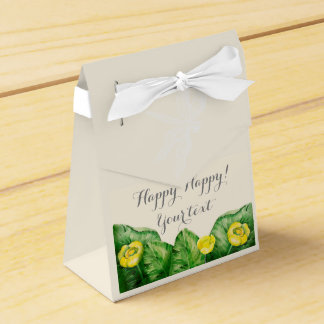 water-lily watercolor favor box