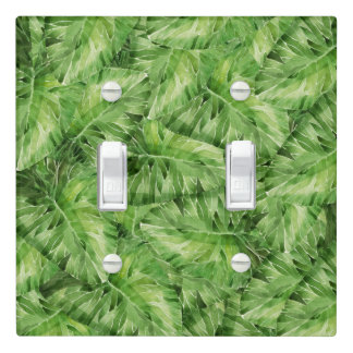 water-lily watercolor light switch cover