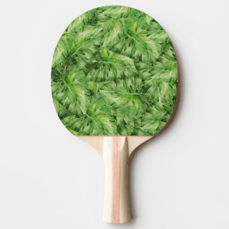 water-lily watercolor ping pong paddle