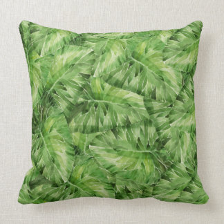 water-lily watercolor throw pillow