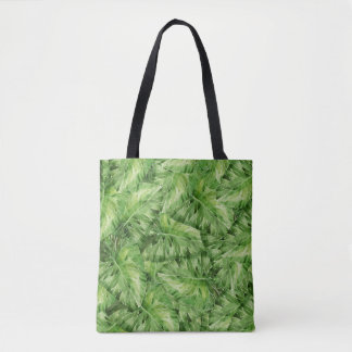 water-lily watercolor tote bag