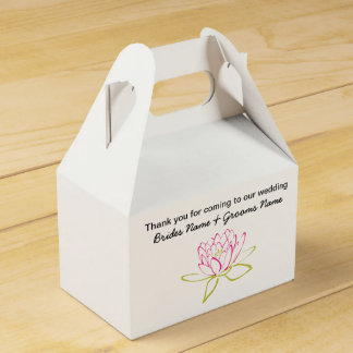 Water Lily Wedding Souvenirs Keepsakes Giveaways Favor Box