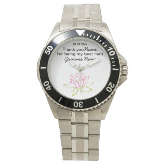 Water Lily Wedding Souvenirs Keepsakes Giveaways Wrist Watches