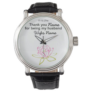 Water Lily Wedding Souvenirs Keepsakes Giveaways Wristwatches