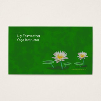 Water Lily Yoga Teacher Business Cards Template