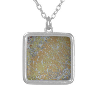 Water Marbling - Cosmos Silver Plated Necklace