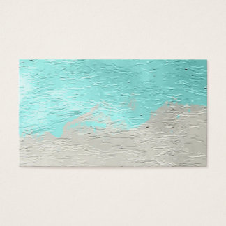 Water Marine Turquoise Paint Business Card