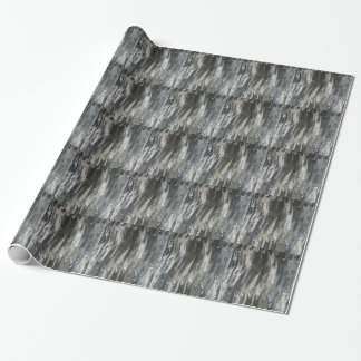 Water Marlbing - Golden Wings Wrapping Paper