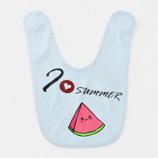water melon baby bib