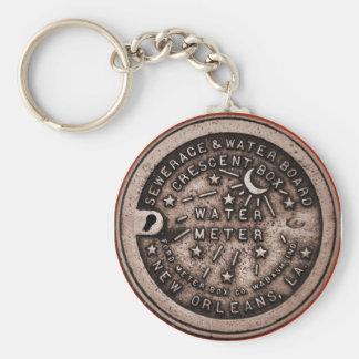 Water Meter Lid Basic Round Button Keychain