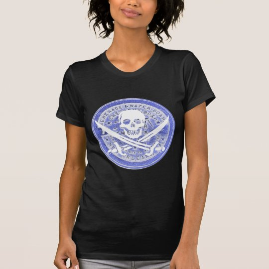 Water Metre Lid in Blue, Jolly Roger, Pirate Day T-Shirt