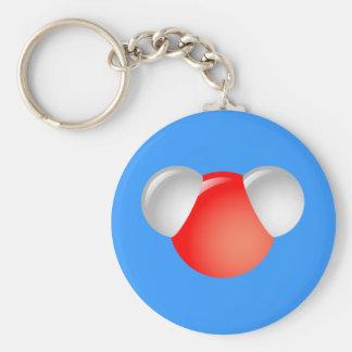 Water Molecule H2O Basic Round Button Keychain